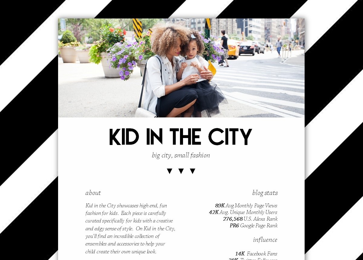 TRENDY Blogger Media Kit Template [2-page, .docx file, instant download]