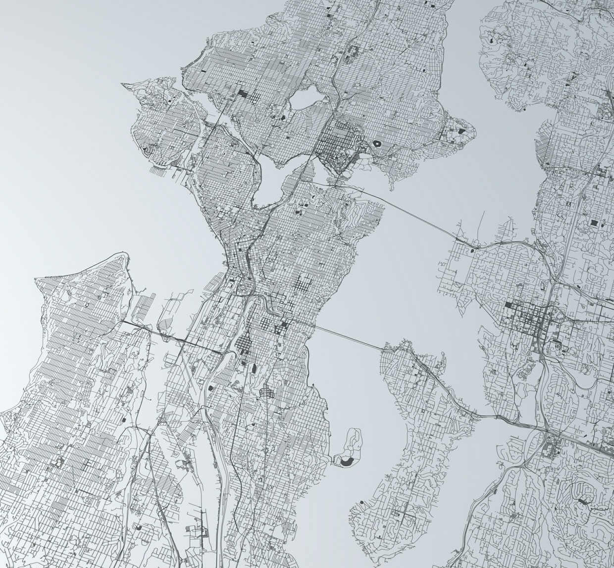Seattle Road Network Architectural 3D Model