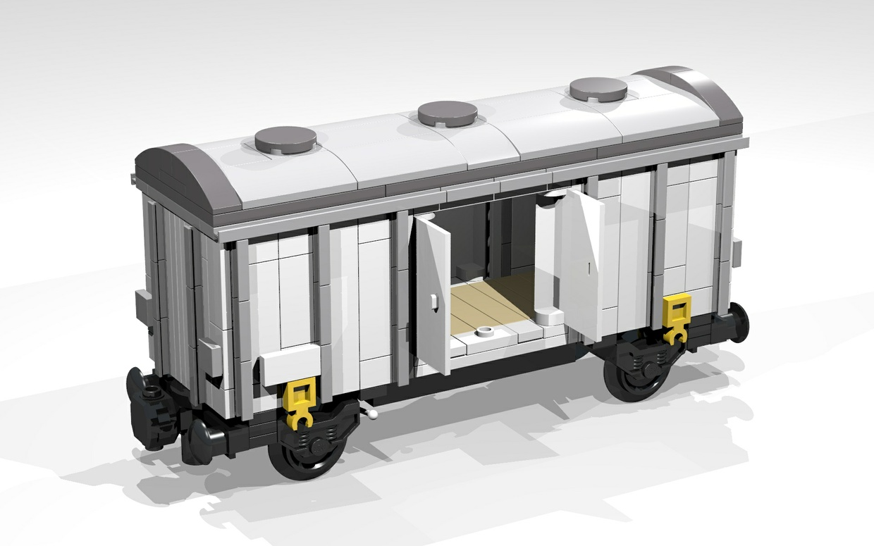 LEGO Building Instructions for a 4-Wheel Reefer