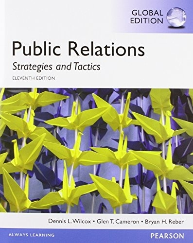 Public Relations Strategies and Tactics,11th edition (  Global Edition )  ( PDF, Instant download )