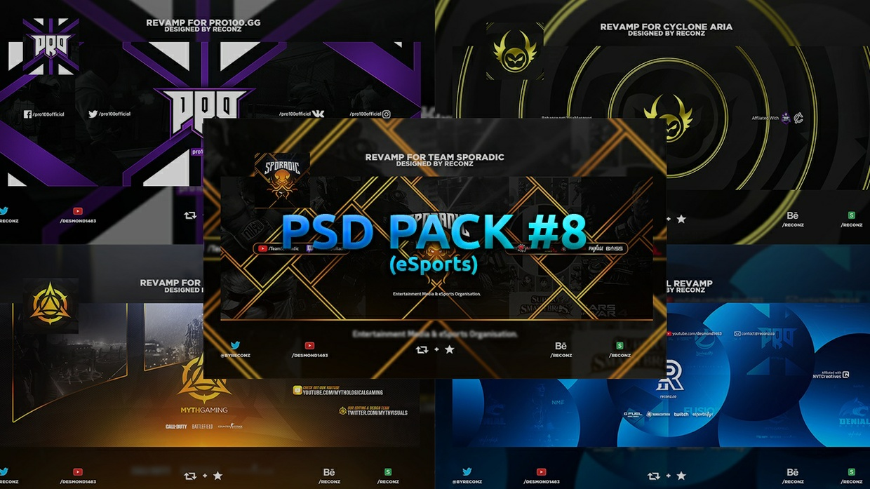 PSD Pack #8 (eSports)