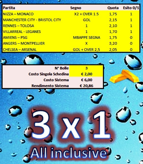 3x1 All Inclusive ( three betting systems in one )