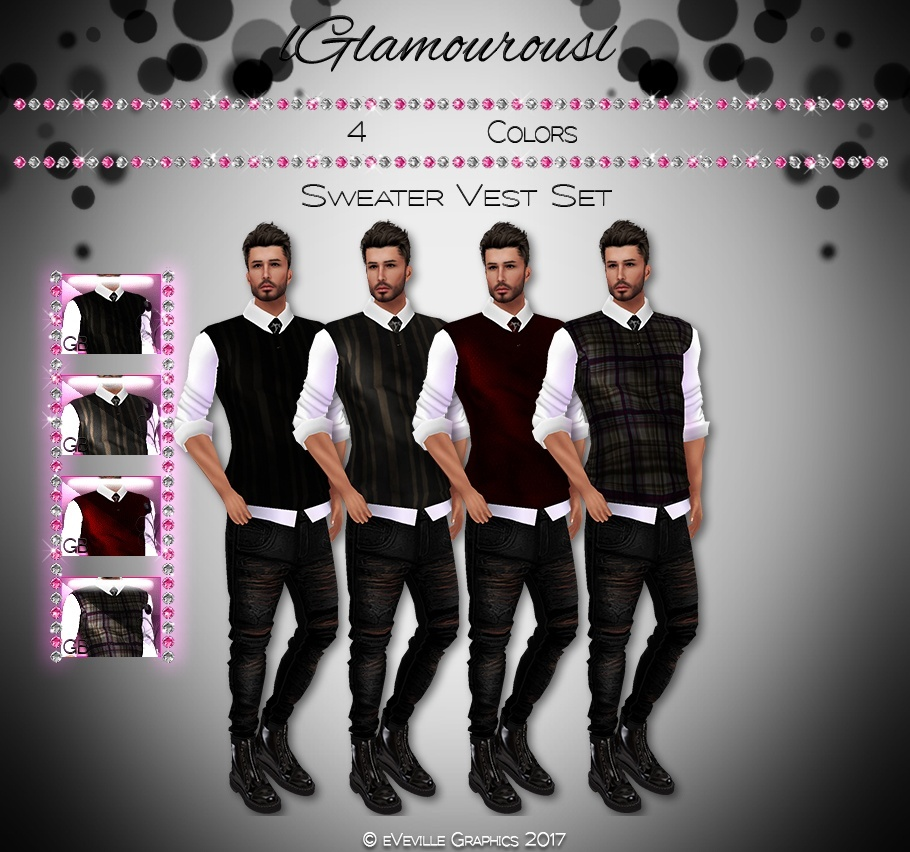 Mens Sweater Vest Collection~CATALOG ONLY~