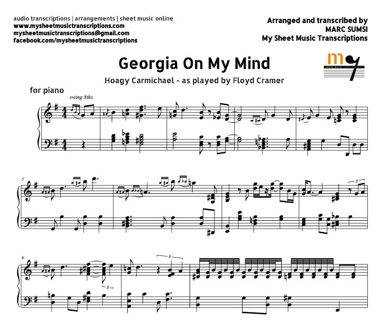 Piano jazz piano sheet music for beginners : On My Mind (Jazz Standard) Sheet music (.pdf)