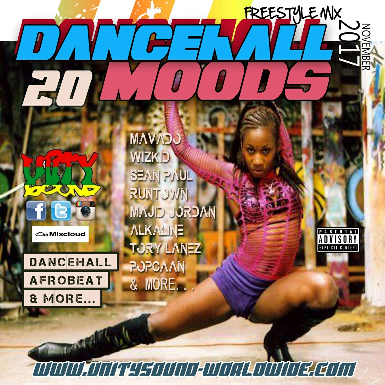 [Multi-Tracked Download] Unity Sound - Dancehall Mood 20 - Suave Mix - Dancehall 2017