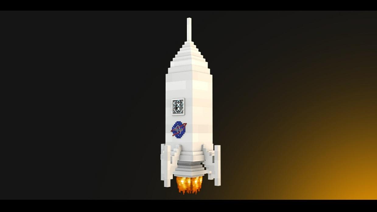 Minecraft - Rig Rocket - [Cinema 4D]