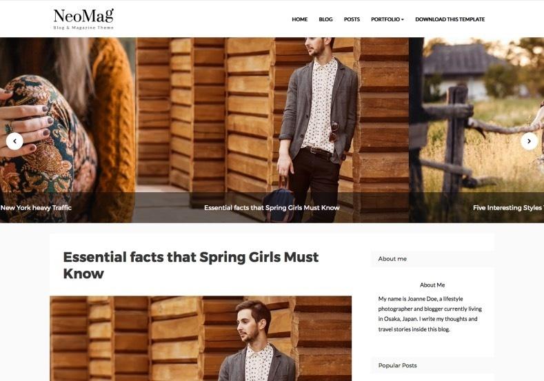 NeoMag Blogger Template Premium Version