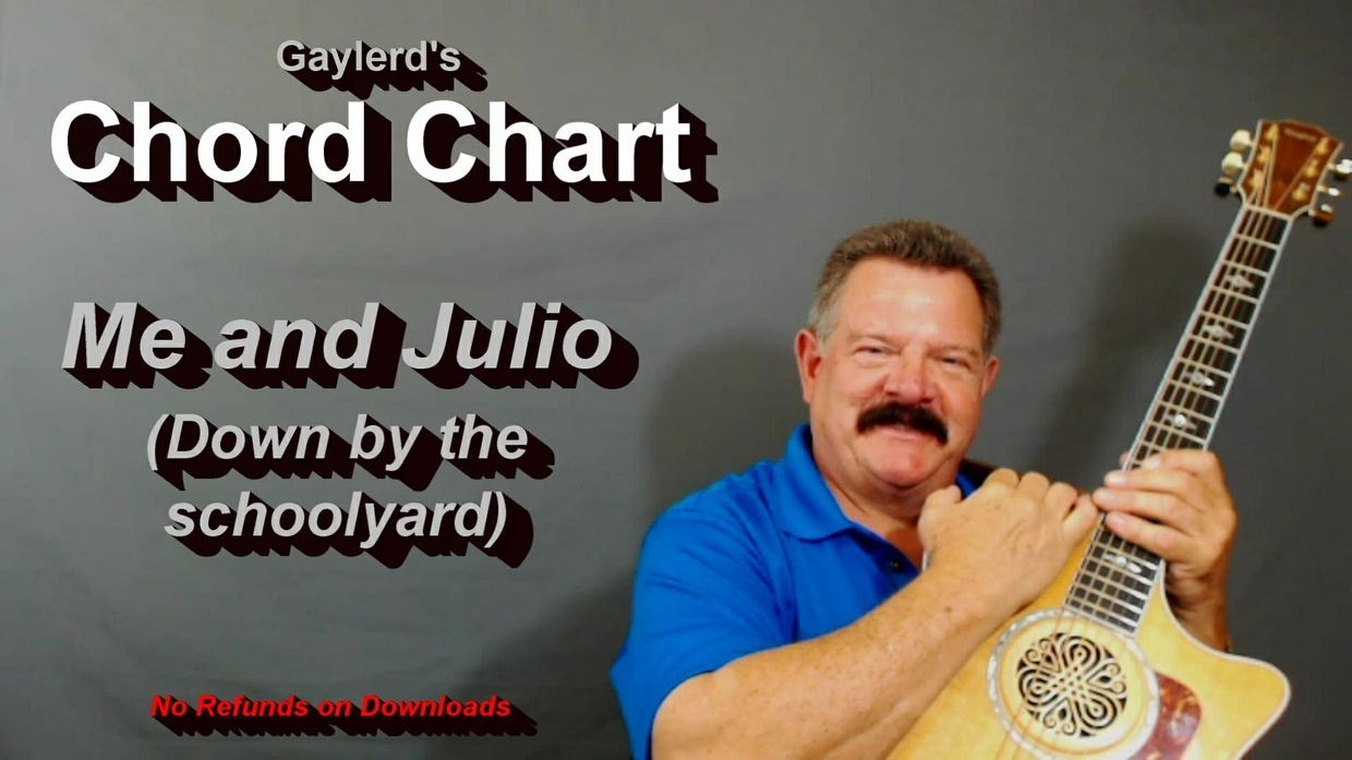 Me and Julio  (Down by the Schoolyard)  - CHORD CHART
