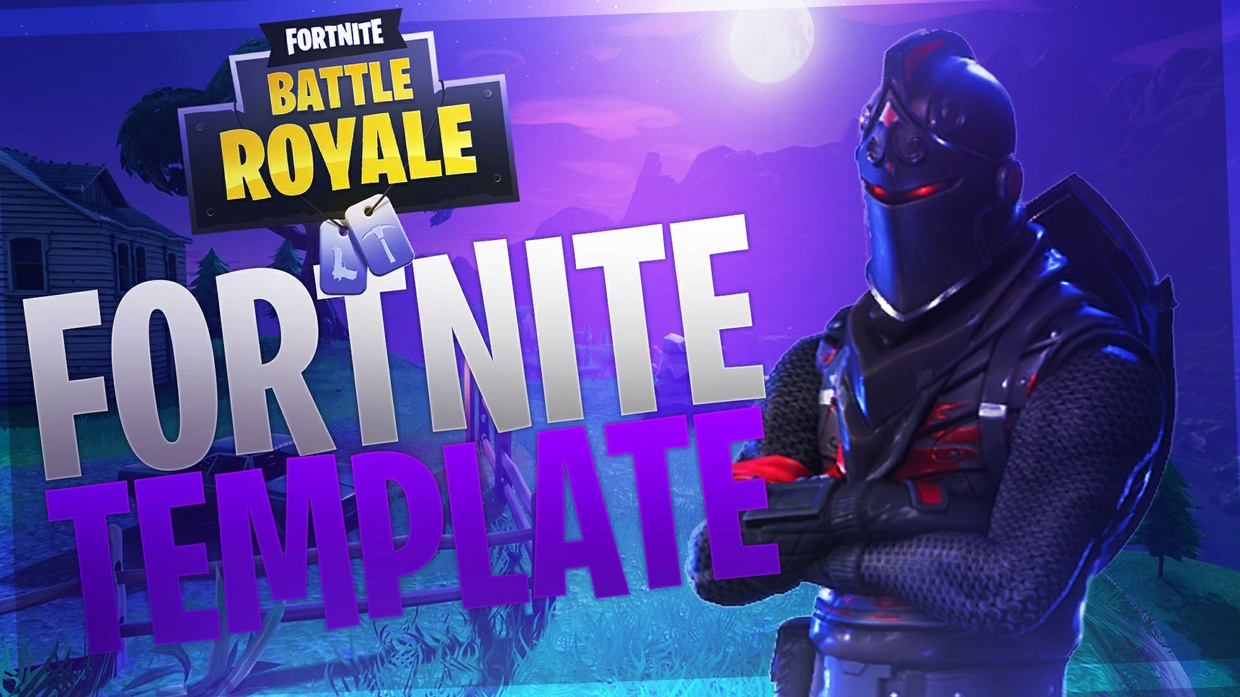 Night Fortnite Battle Royale Thumbnail Template