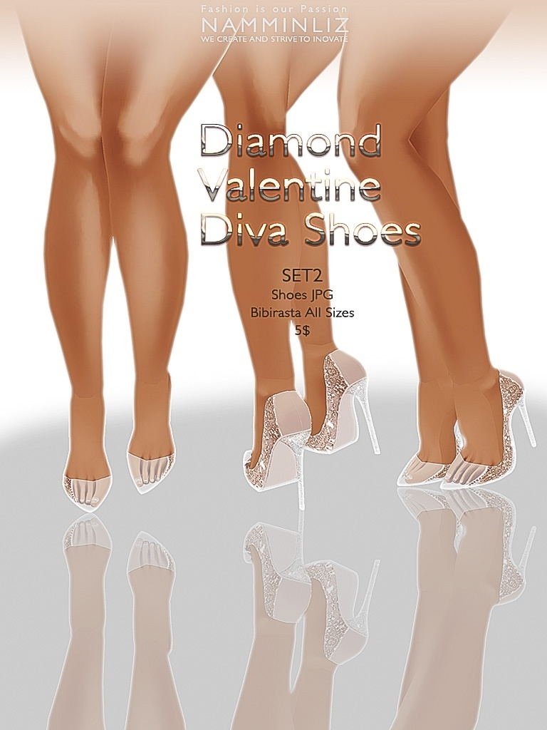 Diamond Valentine Diva Shoes Full SET JPG bibirasta texture imvu