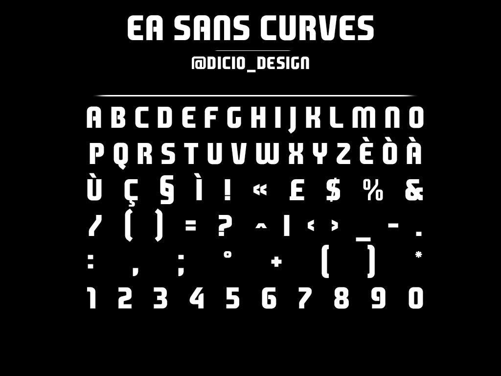 Ea Sans curves font