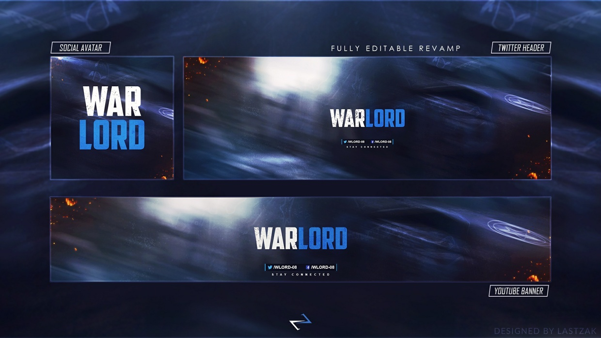 FREE GFX: 'WARLORD' FREE Gaming Revamp/Rebrand [PSD Template] by LastZAK
