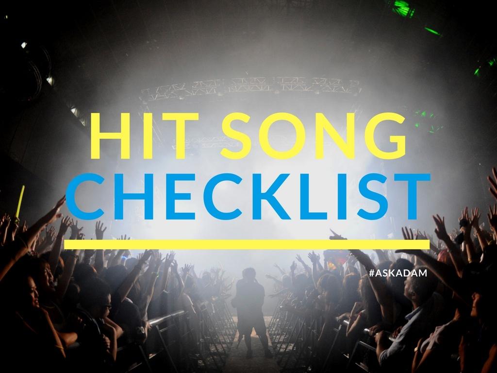 Billboard Hit Song Checklist