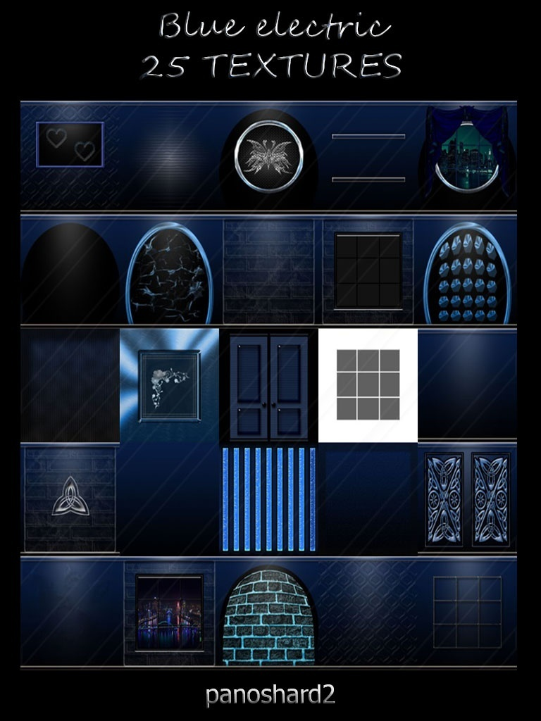 Blue electric 25 textures imvu room