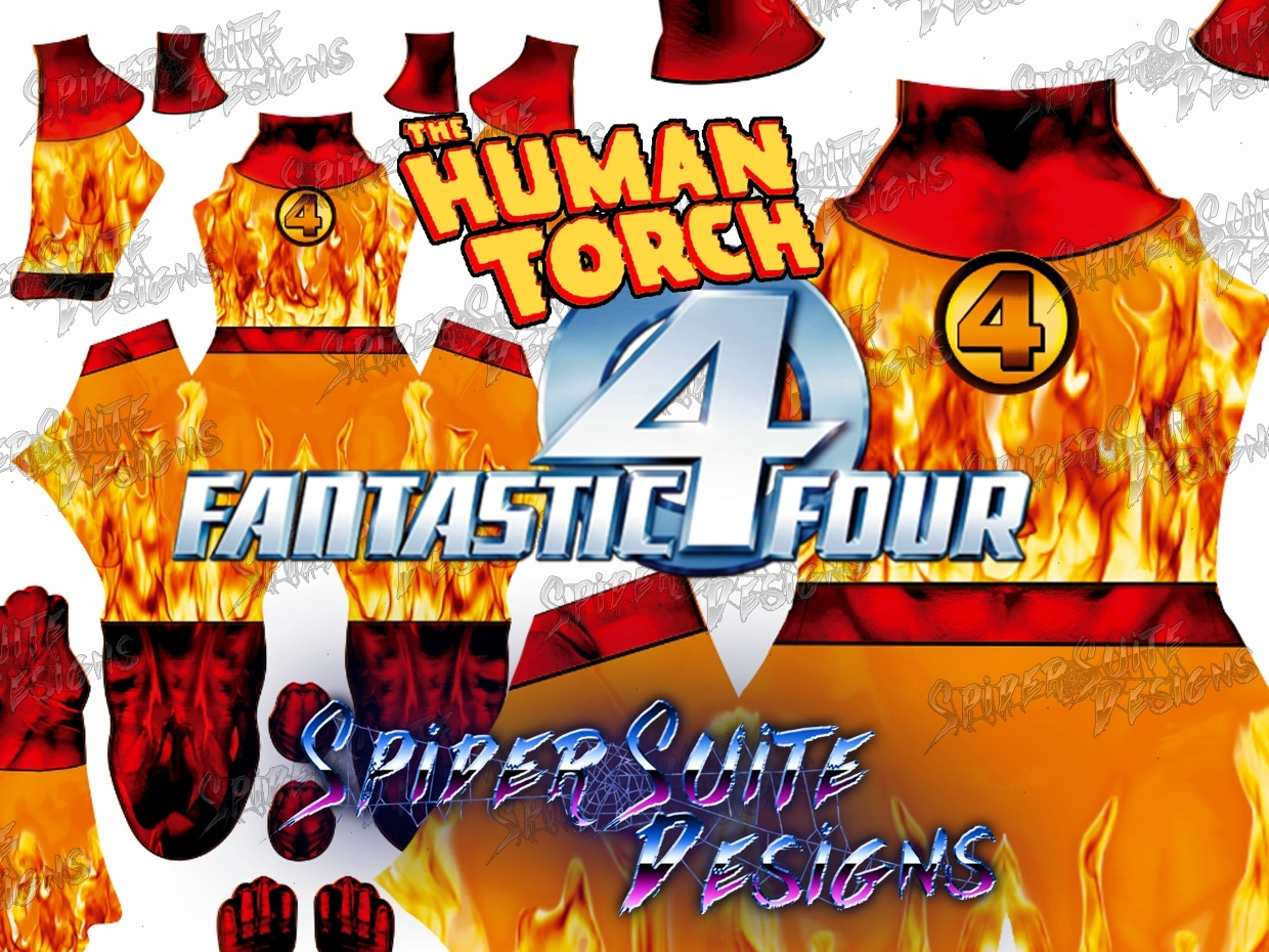 Johnny Storm The Human Torch Suit 2017 Pattern
