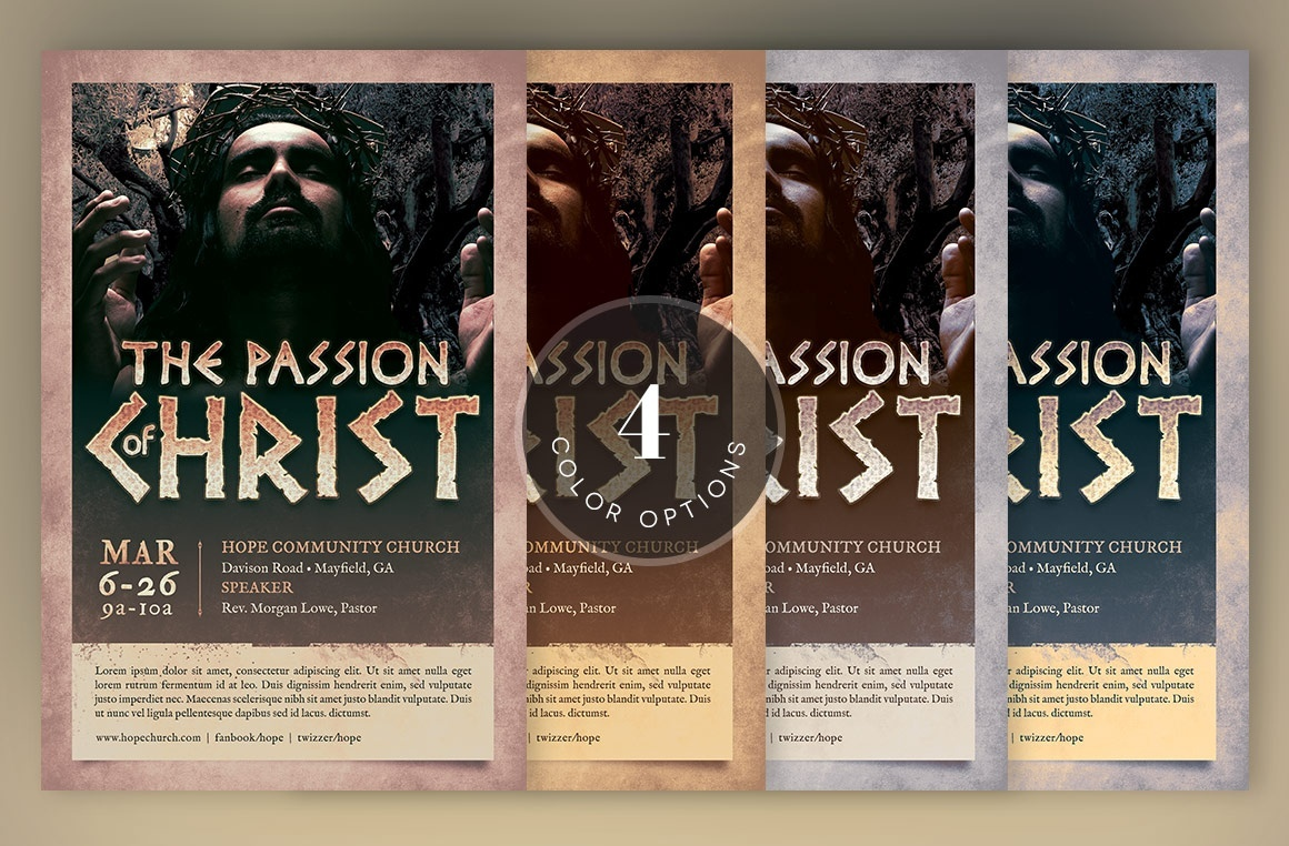 Christ Passion Flyer Template