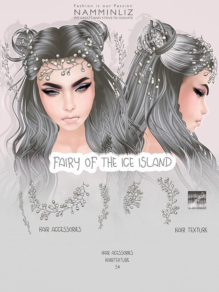 Fairy of the ice island imvu accessories & Hair texture JPG