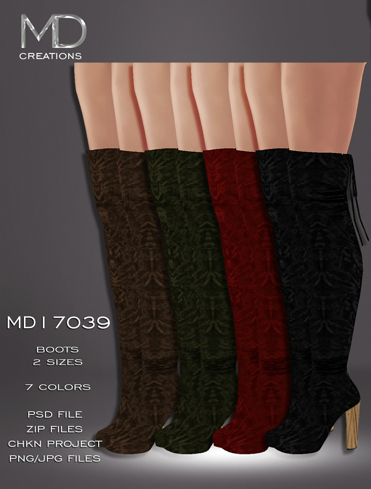 MD17039 - Boots - PSD File