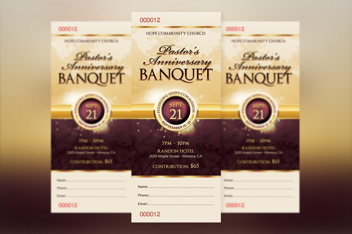Clergy Appreciation Banquet Ticket Template