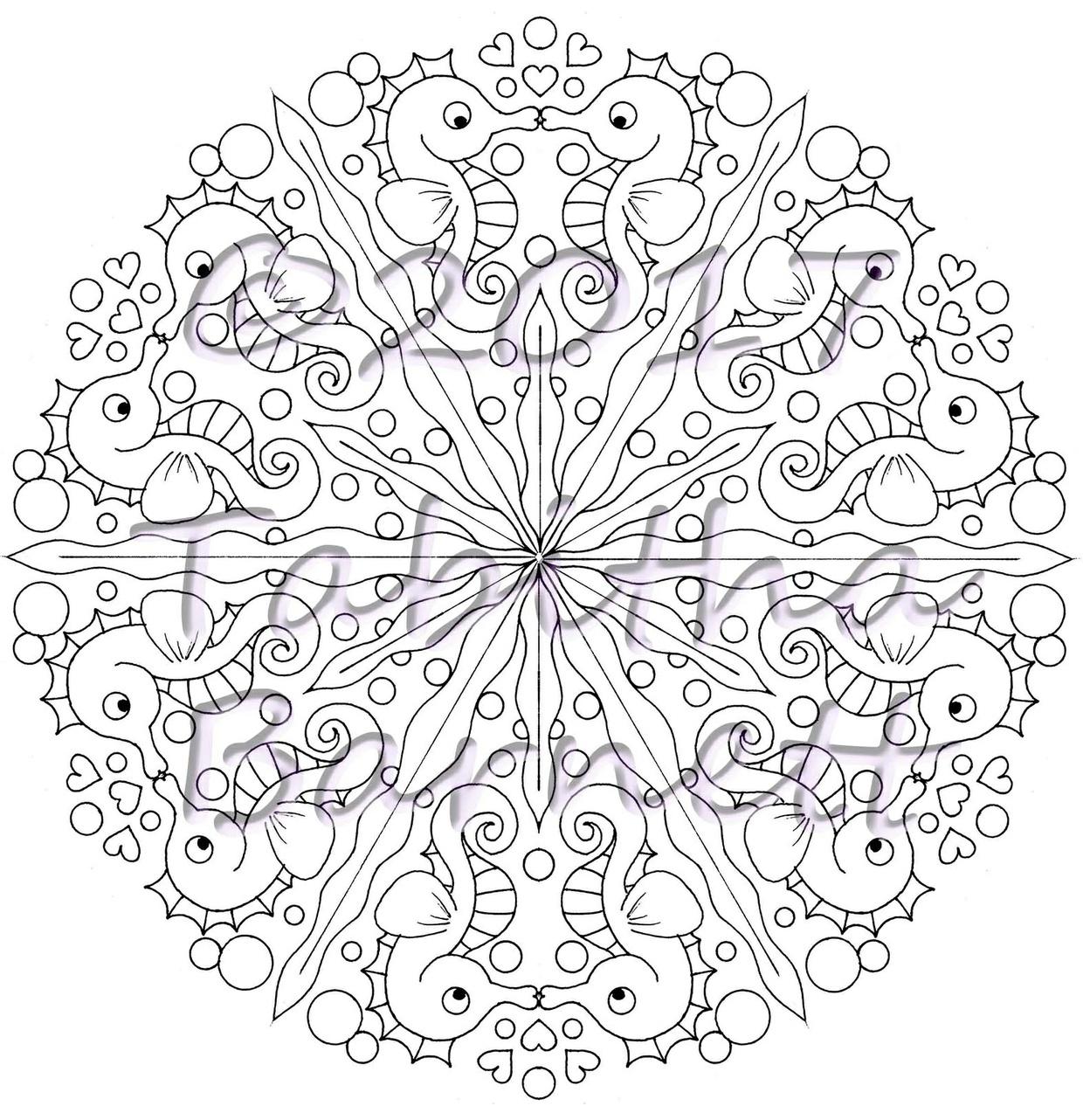 Under the Sea Mandalas Coloring Pack (7 pg. PDF)