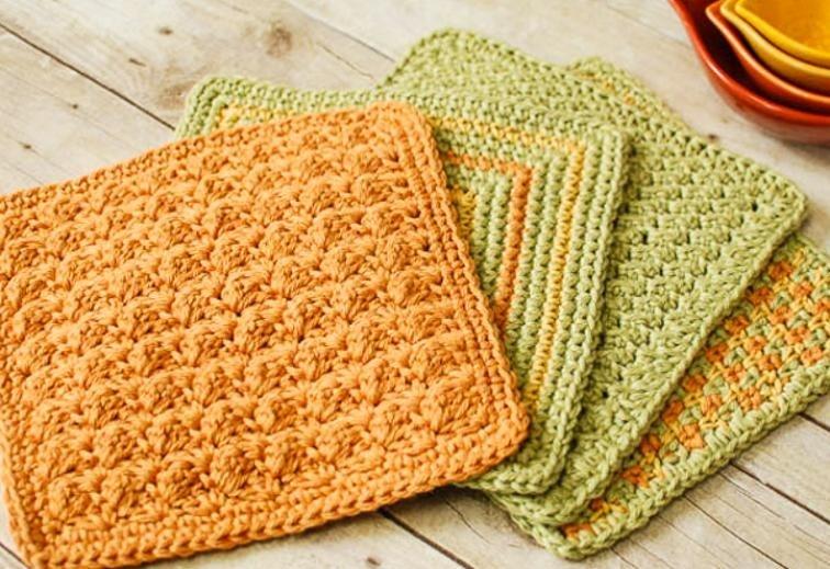Textured Crochet Dishcloths