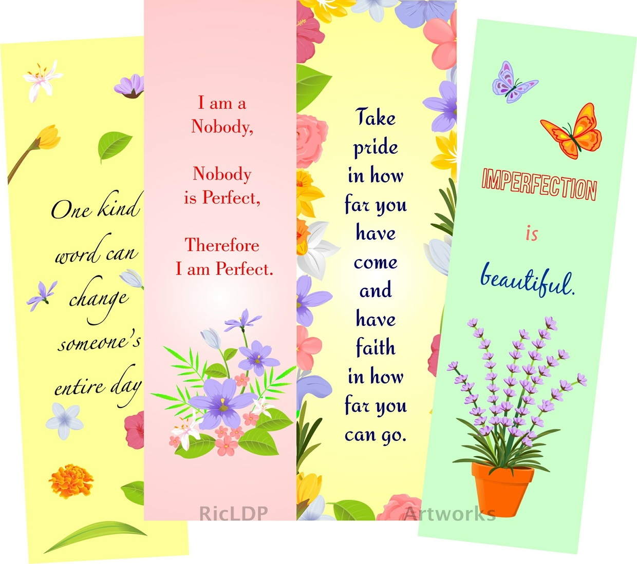 Printable Colored Bookmarks