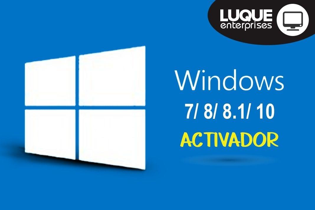 ACTIVA TODOS LOS WINDOWS 32 Y 64 BIT