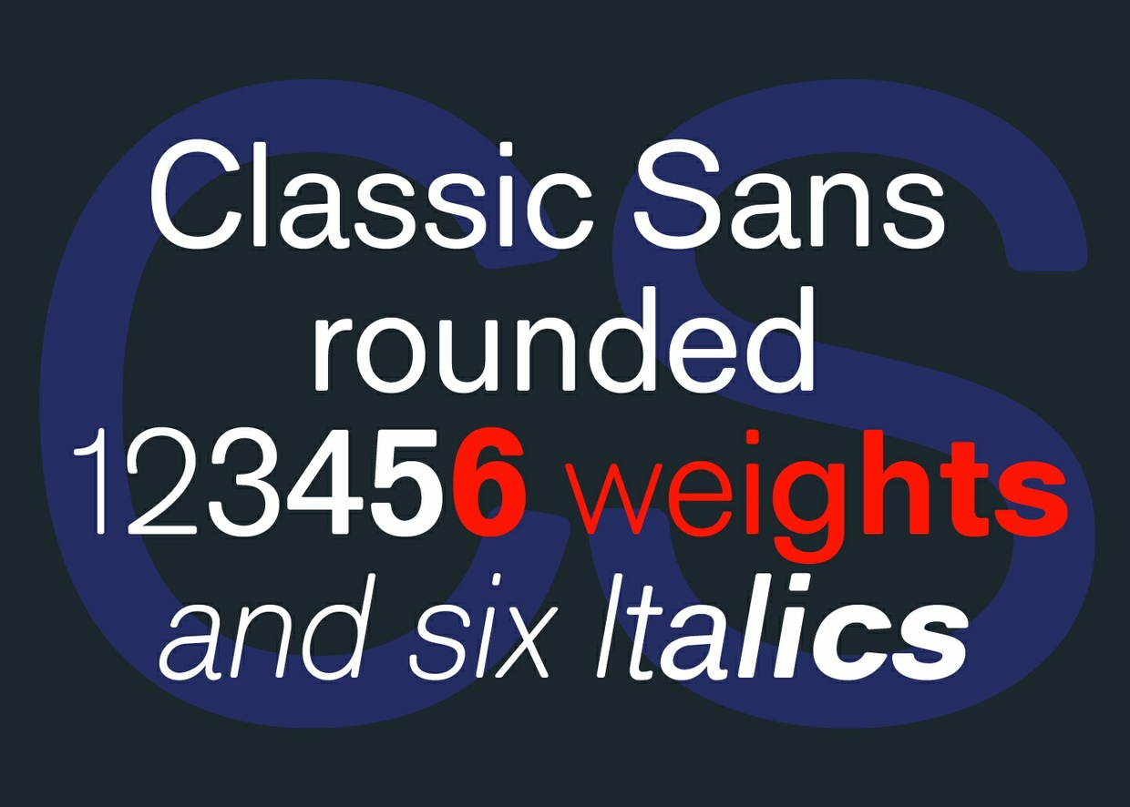 Classic Sans Rounded