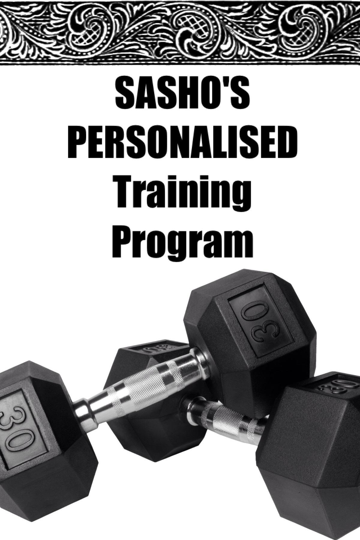 SASHO'S PERSONALISED Training Program