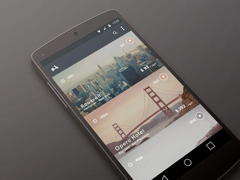 Travel With Comfort - Material Design Concept