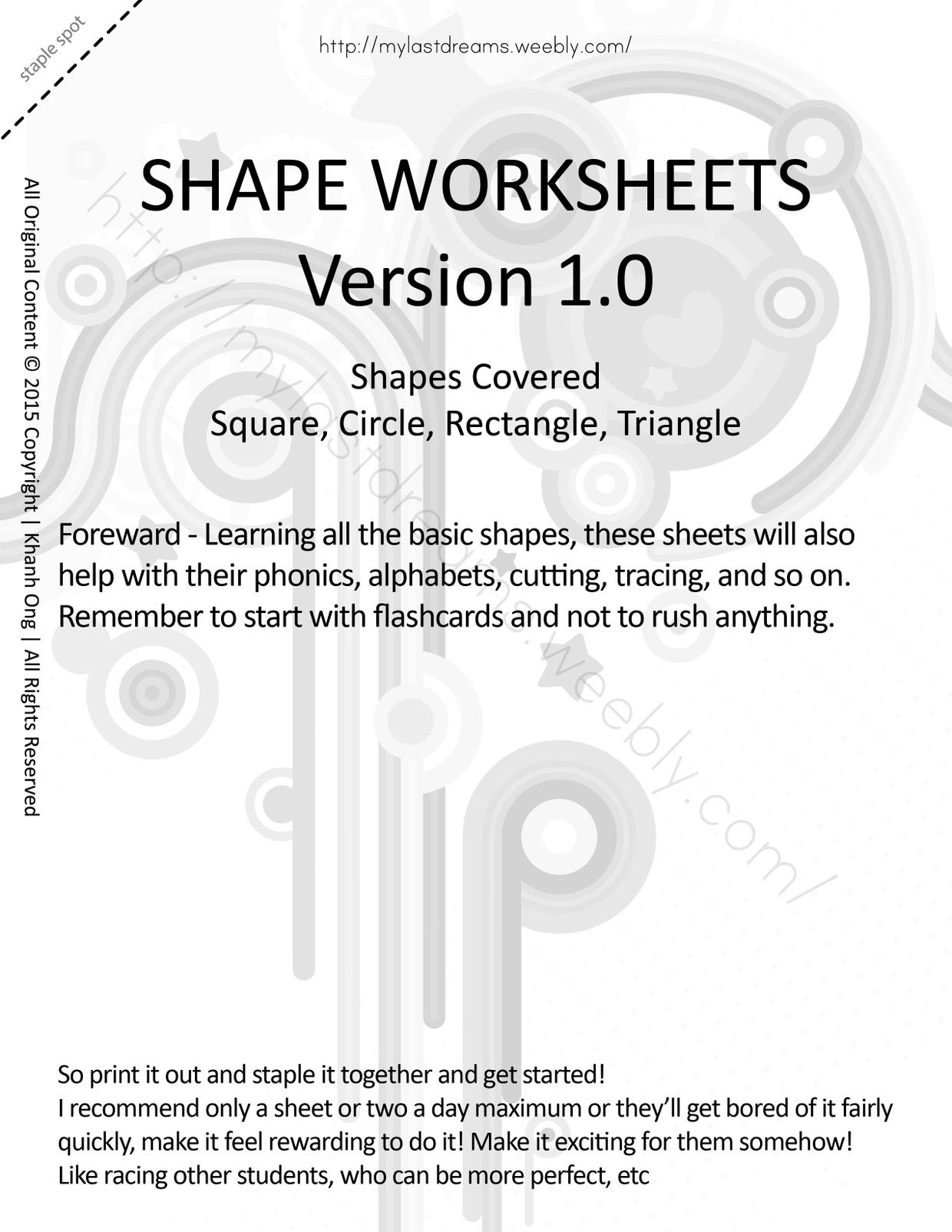 MLD - Basic Shapes Worksheets - Full Set - Letter Sized