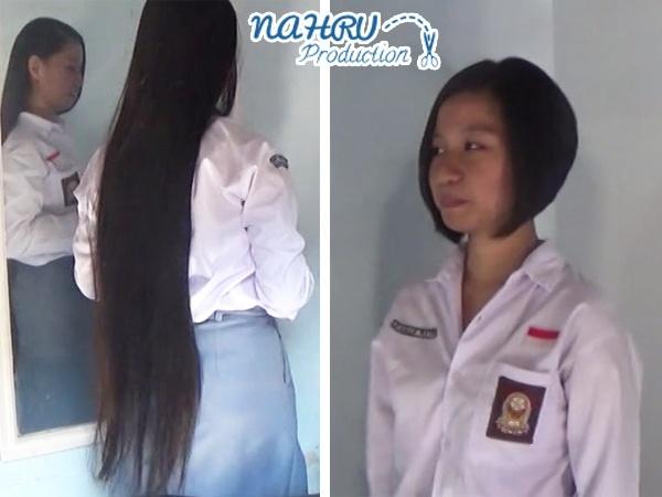 "BOBCUT#001 ""Student Girl Gets A Drastic Hair Makeover"""