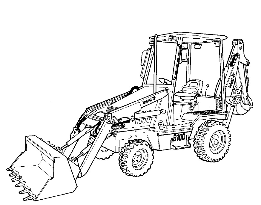 Bobcat B200 Loader Backhoe Service Repair Manual Download  (S/N 570211001 & Above)