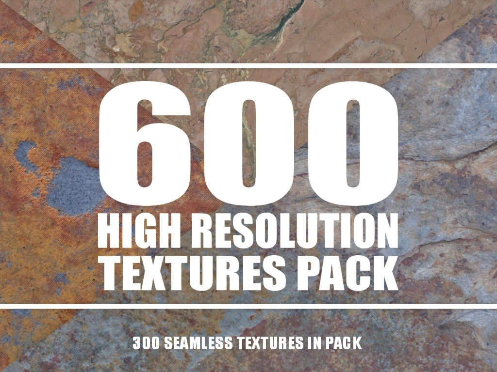Texture Pack - 600 High Resolution Textures + Seamless