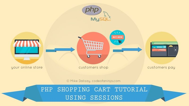 LEVEL 2 - PHP and MySQL Shopping Cart Tutorial - Using SESSIONS To Store Cart Data