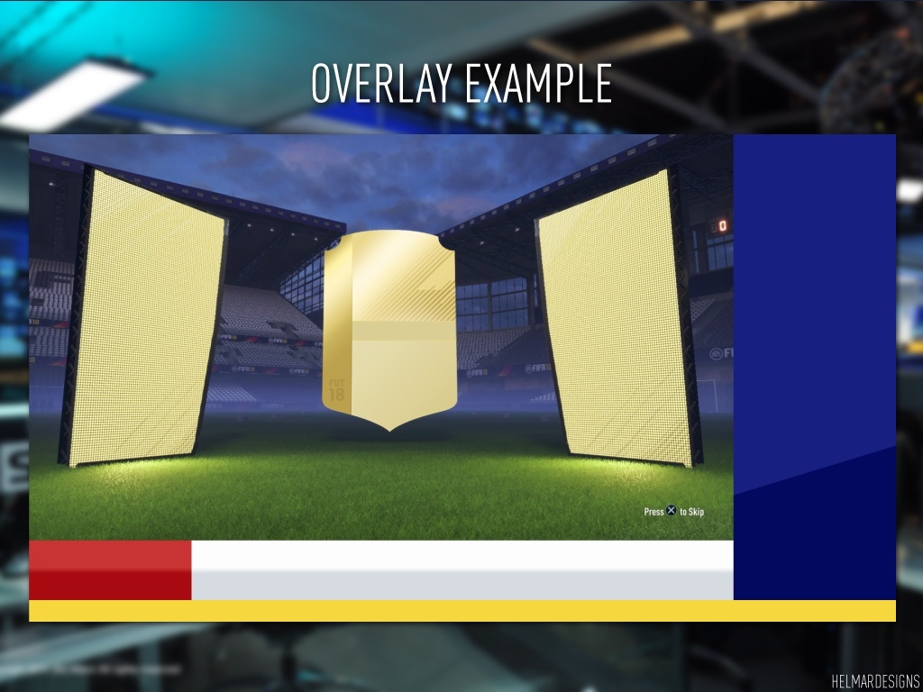 Sky Sports News Style Blank Twitch Overlay (Illustrator)