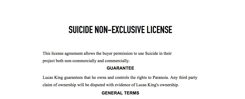 Dark Music - Suicide License