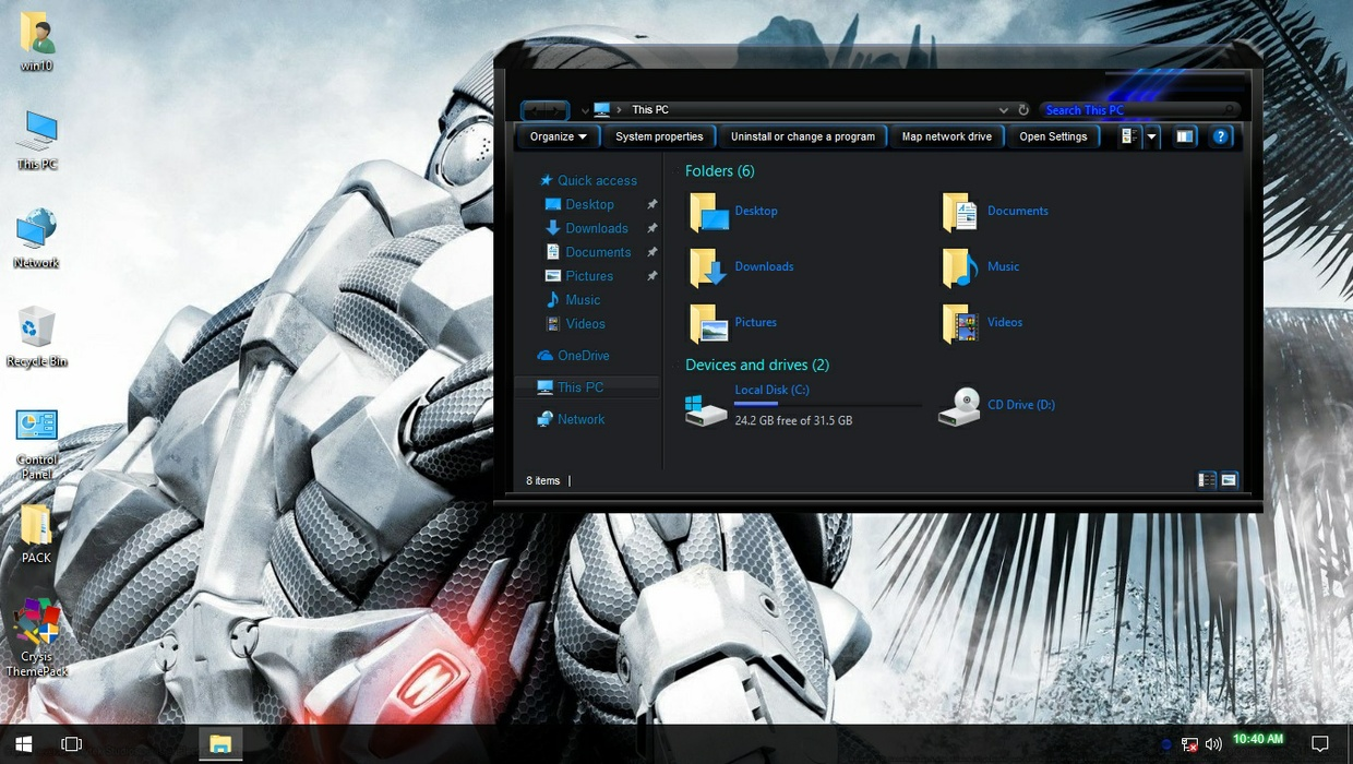 Crysis ThemePack for Win 7/10RS2
