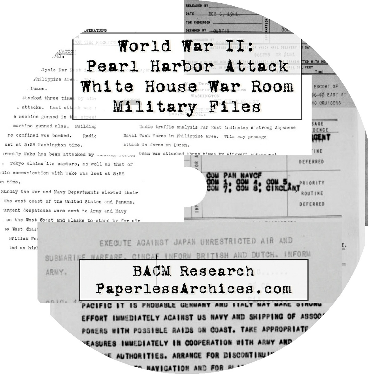 World War II: Pearl Harbor Attack: White House War Room Military Files - Download