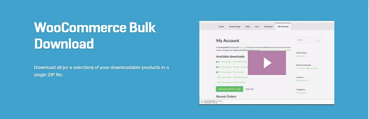 WooCommerce Bulk Download 1.2.2 Extension