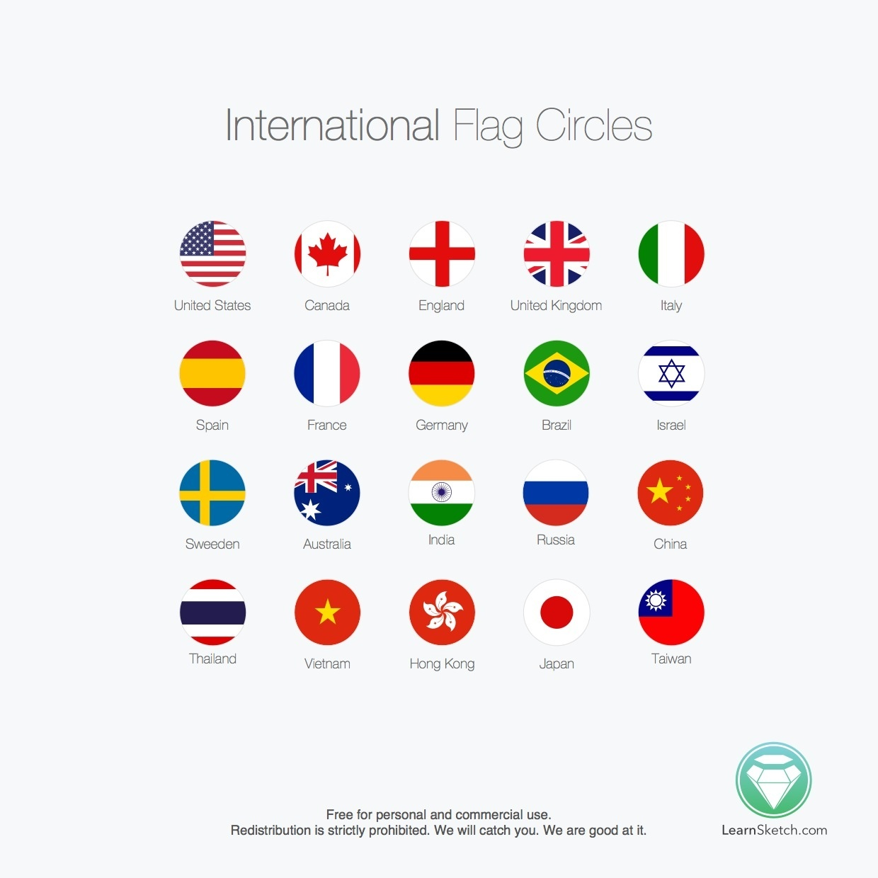 International Flag Circles