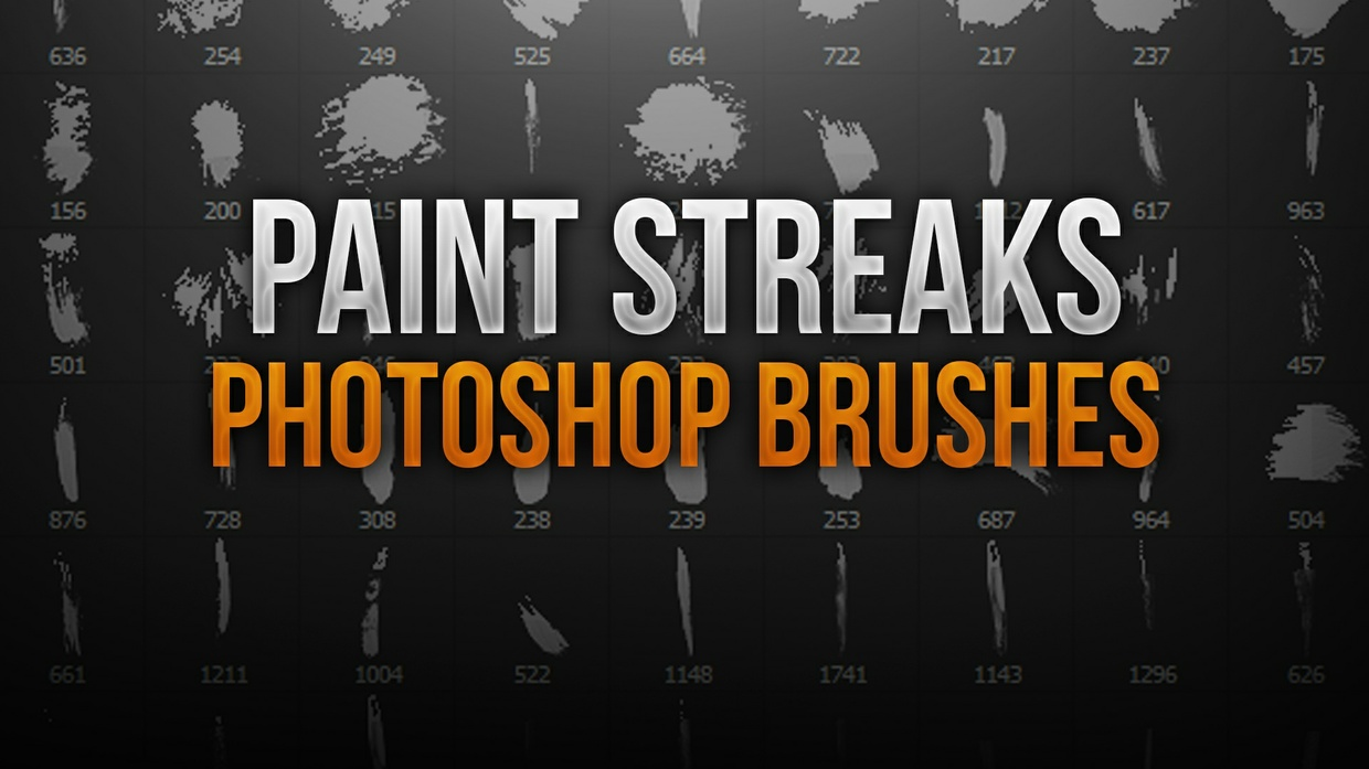 Paint Streak Photoshop Brush Pack