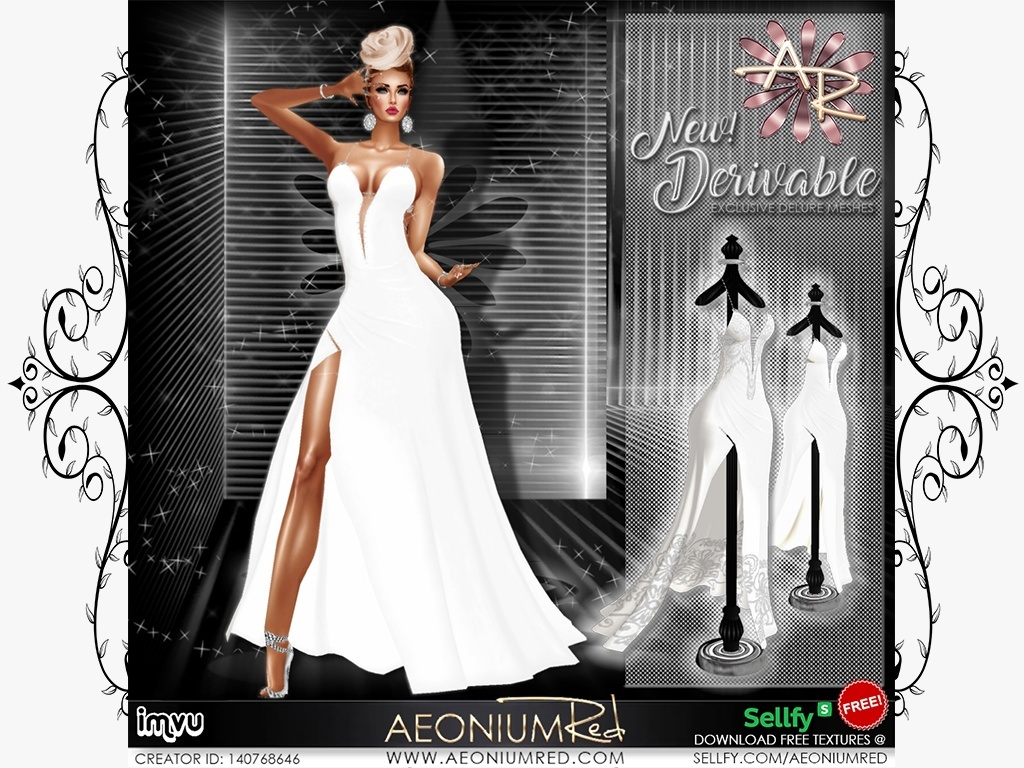 Exclusive New IMVU Freebie: Majestic Evening Gown V1 & V2