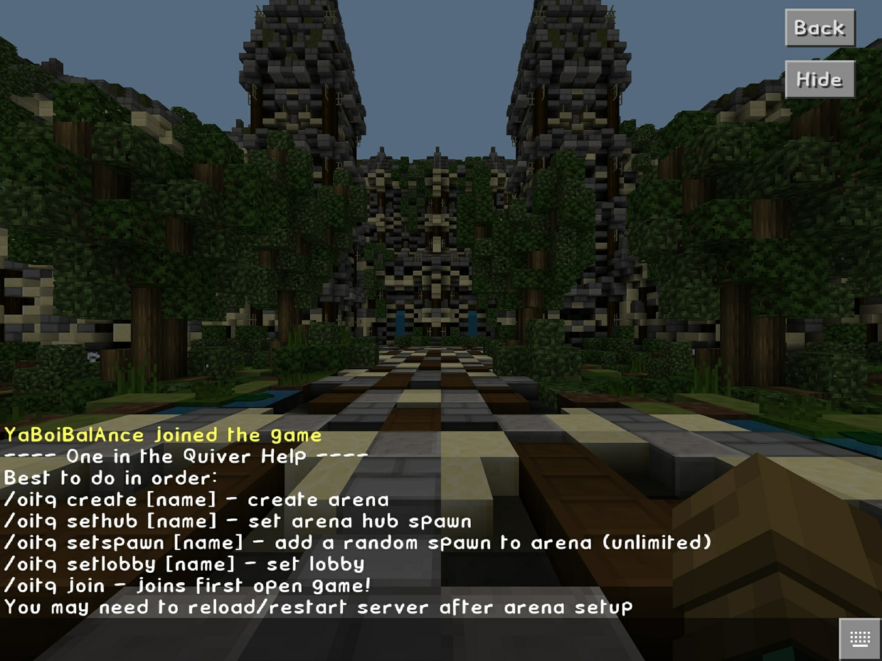 One In The Quiver Plugin - Minigame Type Plugin!