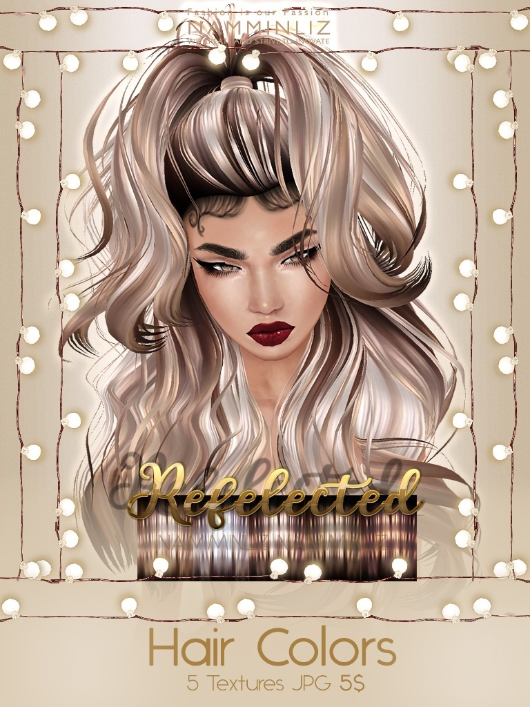Reflected Hair Colors Full Textures JPG imvu NAMMINLIZ file sale