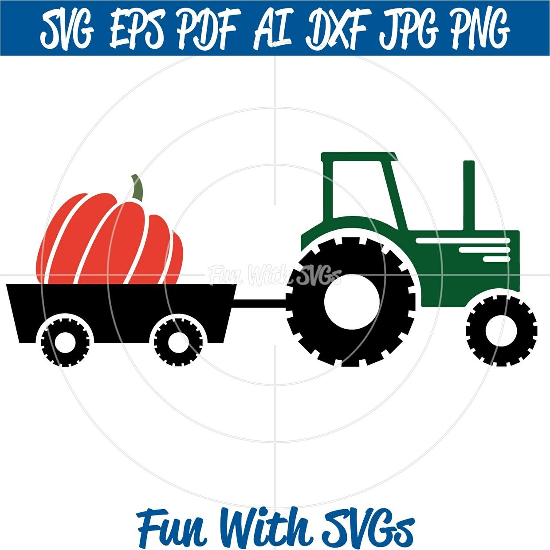 Fall Tractor SVG, Fall Pumpkin svg, Pumpkin Tractor SVG, Fall svg Files, SVG Files