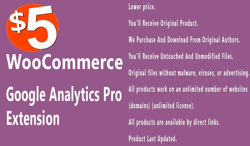 WooCommerce Google Analytics Pro 1.4.0 Extension