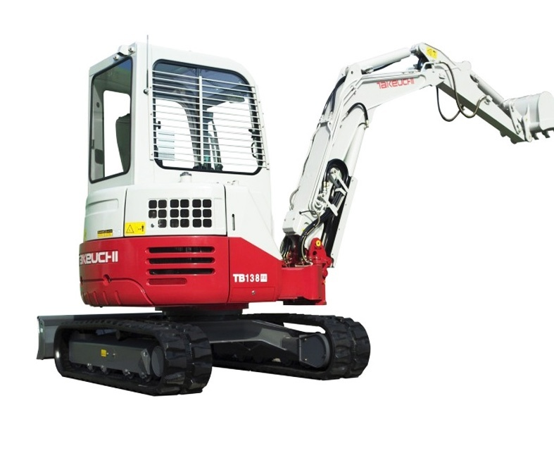 Takeuchi TB138FR Tier3 Compact Excavator Service Repair Workshop Manual Download