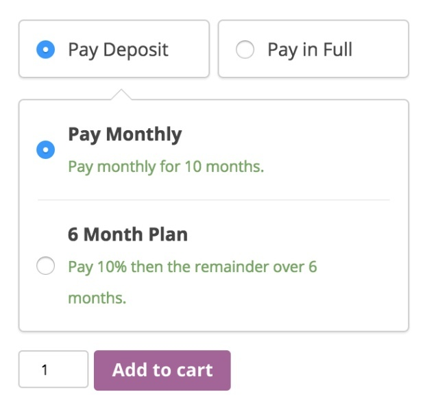 WooCommerce Deposits 1.3.3 Extension