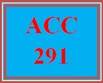 ACC 291 Week 5 Financial Reporting Problem II